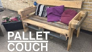 getlinkyoutube.com-How to make a nice and easy upcycle Pallet Couch !