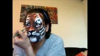 getlinkyoutube.com-How To Face Paint A Tiger by Michael Knight