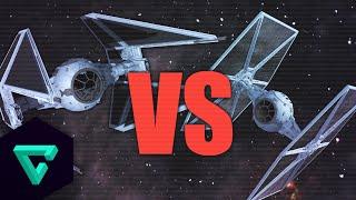 getlinkyoutube.com-Space Engineers : Tie Fighter vs Tie Interceptor | Star Wars | Fighter Ship Showdown #4