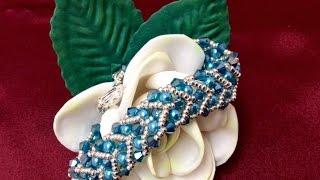 getlinkyoutube.com-Como hacer Pulsera espiga con SWAROVSKI - Hoe to make spike bracelet with SWAROVSKI