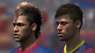 getlinkyoutube.com-FIFA 14 vs FIFA 13 Head to Head Faces (3 angles view) | Barcelona | HD 1080p