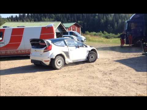 Elfyn Evans test Neste Oil Rally Finland 2014