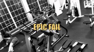 getlinkyoutube.com-Double Fail: dumb blond falls off treadmill