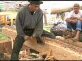 Niemieccy drwale a domy z bali