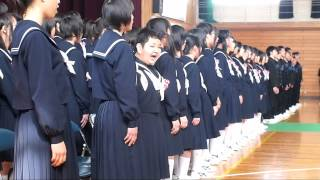 getlinkyoutube.com-中学校の卒業式 The graduation of the junior highschool for autism