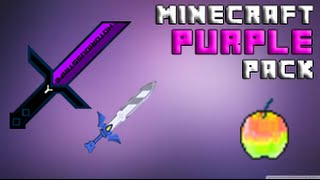 getlinkyoutube.com-Minecraft Purple PvP Texture Pack [Cool Swords, Low Fire]