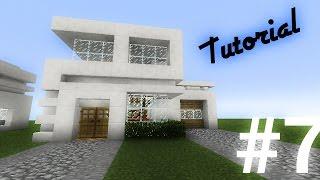 getlinkyoutube.com-Como hacer una casa moderna de cuarzo (14x12) en minecraft pe