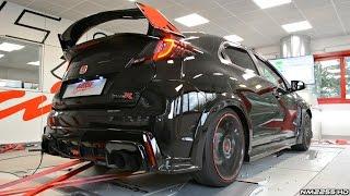 getlinkyoutube.com-2016 Honda Civic Type R with Custom Exhaust Dyno Runs