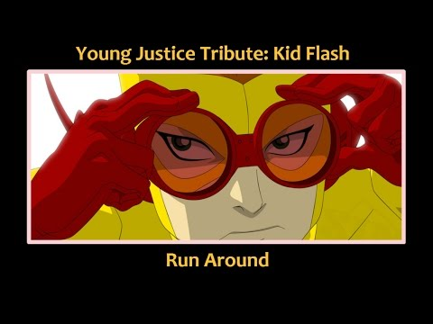 Young Justice Tribute: Kid Flash Runs Around