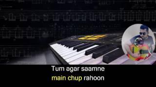 getlinkyoutube.com-Main Agar Samne karaoke with synced lyrics