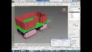 getlinkyoutube.com-3ds max plan dan bina modelleme - House Modeling