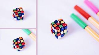 getlinkyoutube.com-MINIATURE RUBIK'S CUBE ☞ DIY Polymer Clay Tutorial