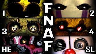 getlinkyoutube.com-FNAF 1, 2, 3, 4, HE, SL - All Jumpscares! | 50+ Death Scenes