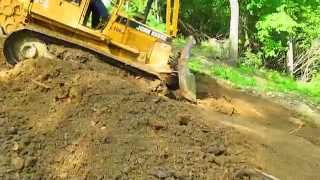 650 jd dozer steep mountian side winch cable fail