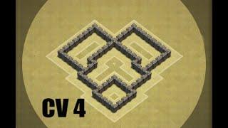 getlinkyoutube.com-Clash of Clans CV 4 Layout Guerra!