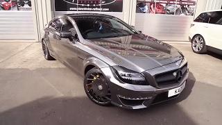 getlinkyoutube.com-Crazy Chrome Black CLS 63 AMG with Capristo Exhaust!