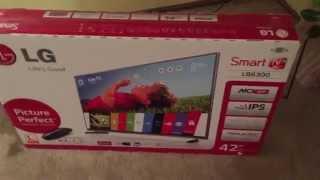 "getlinkyoutube.com-Unboxing, Setup, Impressions LG 42LB6300 42"" LED TV WebOS"