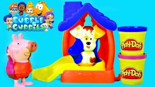 getlinkyoutube.com-Bubble Guppies Color Changer Bathtime Puppy Play Doh Muddy Peppa Pig Water Changing Toys by DCTC