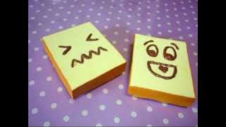 getlinkyoutube.com-・✿。Squishy toast tutorial 。✿・