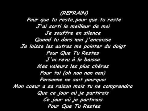 Vitaa- Pour que tu reste ( Paroles)