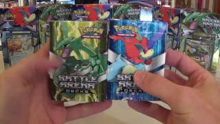 getlinkyoutube.com-2016 XY Battle Arena Decks KELDEO VS RAYQUAZA !!!  Super Value