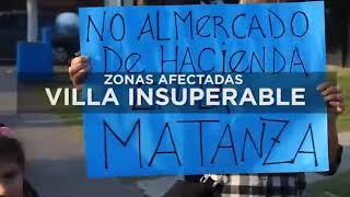 No al Mercado de Hacienda en La Matanza