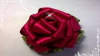 getlinkyoutube.com-Rosa de fita \ Rose Ribbon