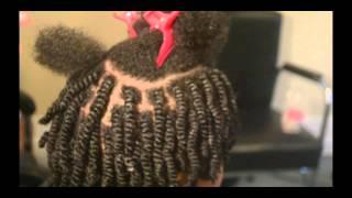 getlinkyoutube.com-Tangles and Beyond Mini Twists w/ Shea Buttercreme on 4b/4c Natural Hair