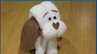 getlinkyoutube.com-Cómo hacer un perrito de toalla para regalar en bautizos y baby showers