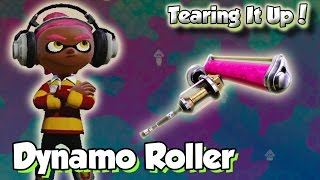 getlinkyoutube.com-Splatoon Multiplayer - Tearing It Up W/ Dynamo Roller (GIVE ME FLOUNDER HEIGHTS!)