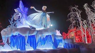 getlinkyoutube.com-FULL Disneyland Christmas Fantasy Parade 2014 with Frozen Anna Elsa and Olaf
