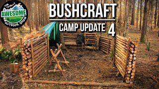 getlinkyoutube.com-Bushcraft Camp Update 4 - Perimeter Walls Finished! | TA Outdoors