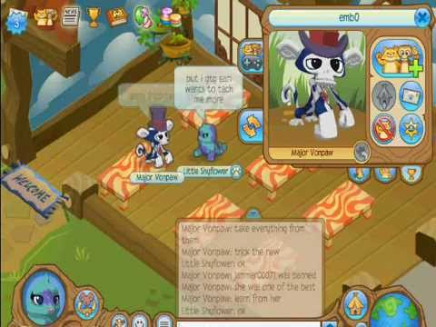 Animal Jam Scammer Watch - September 10th, 2012 - emb0 and his scammer meeting