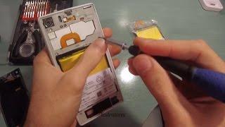 getlinkyoutube.com-Sony Xperia Z1 Battery replace - disassembly
