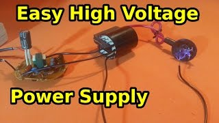 getlinkyoutube.com-Make a High Voltage Power Supply Using a CFL Lamp and a Flyback