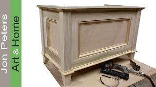 getlinkyoutube.com-Make a blanket chest / Toy chest by Jon Peters