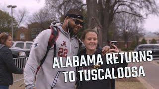getlinkyoutube.com-Watch the scene as the Alabama football team returns home to Tuscaloosa.