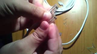 Как обжать интернет кабель отверткой