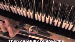 getlinkyoutube.com-The Simple Repair of a Yamaha Clavinova to reduce Keyboard Noise