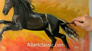 getlinkyoutube.com-Horse Paintings and Art-Full Painting Process