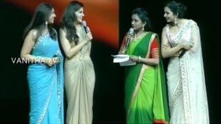 getlinkyoutube.com-Anchor Suma Comedy with South Indian Actresses at TANA 20th Convention | Vanitha TV