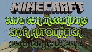 getlinkyoutube.com-Casa Automática Con Redstone / Casa Con Mecanismos / Minecraft 0.13.0