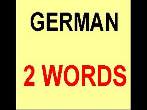 German Everyday Words (2-word-expressions )