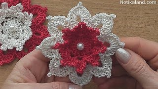 getlinkyoutube.com-Crochet flower tutorial VERY EASY