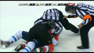getlinkyoutube.com-Evander Kane/Erik Karlsson full incident + Neil fights Kane
