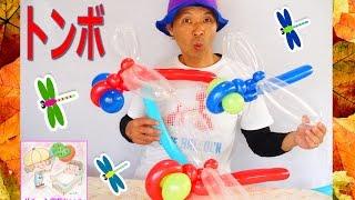 getlinkyoutube.com-How to make balloon Dragonfly  トンボを作ろう!【 かねさんのバルーンアート】