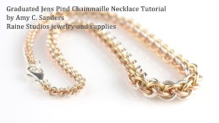 getlinkyoutube.com-Graduated Jens Pind Chainmaille Necklace Tutorial