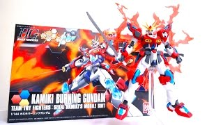 getlinkyoutube.com-HGBF 1/144 カミキバーニングガンダム (ガンダムビルドファイターズトライ) ヲタファのガンプラレビュー Kamiki Burning Gundam review
