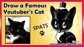 getlinkyoutube.com-Fun2draw Famous Youtuber's Cat - Mommy and Gracie Show - Spats