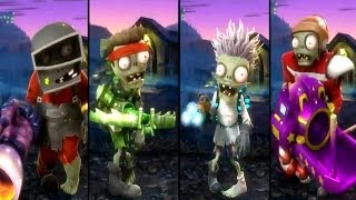 getlinkyoutube.com-Plants vs Zombies Garden Warfare - All Zombies Unlocked / All Characters